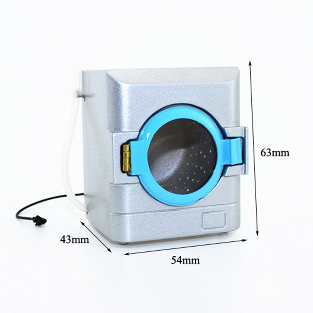 1/12 Dollhouse Miniature Accessories Mini Metal Drum Washing Machine Simulation Model Toys for Doll House Decoration