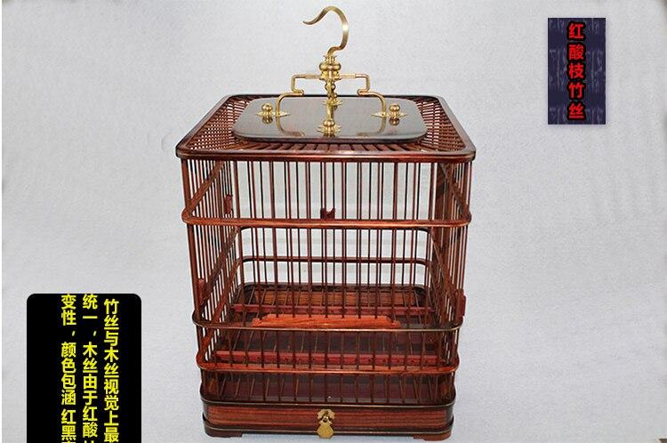Ev ve Bahçe'ten Kuş Kafesleri ve Yuvaları'de 23 cm * 23 cm * 26 cm bambu kuş kafesi el yapımı boya kuş kafesi paslanmaz çelik kafes tek tek setleri bambu kuş kafesi jaula loro'da  Grup 1