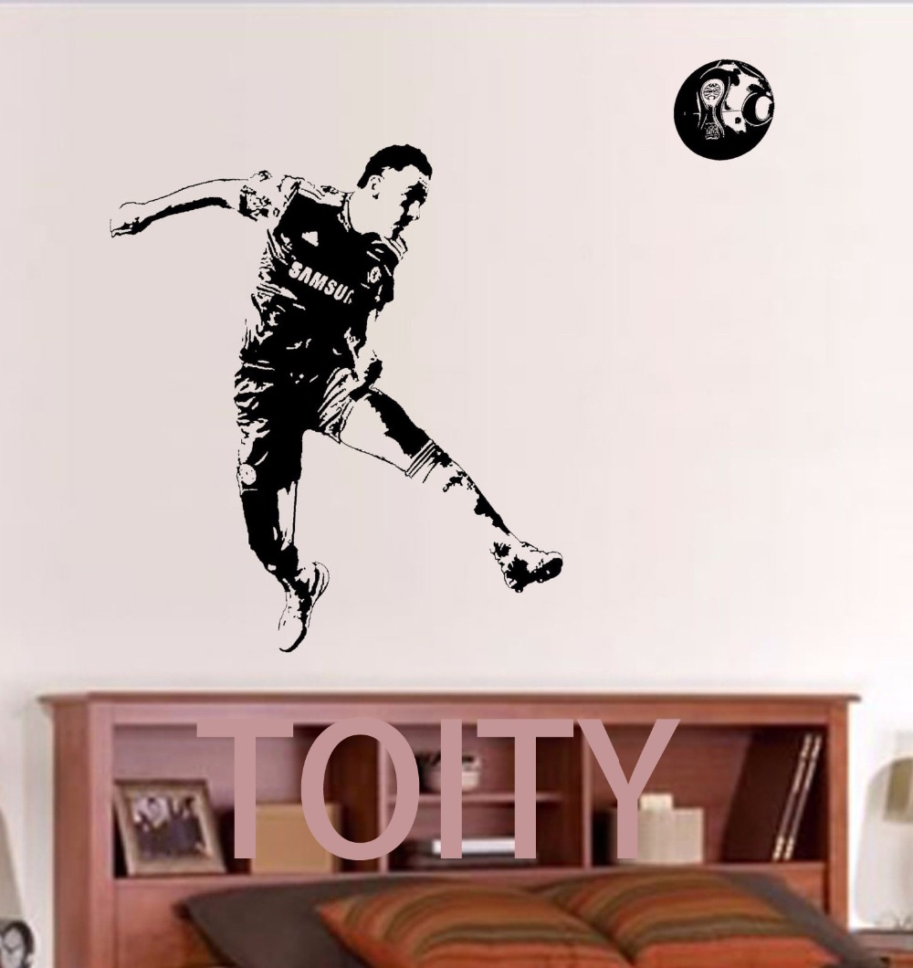 online buy wholesale chelsea football from china chelsea football john terry wall sticker england chelsea football player vinyl decal home interior bedroom sport art decor