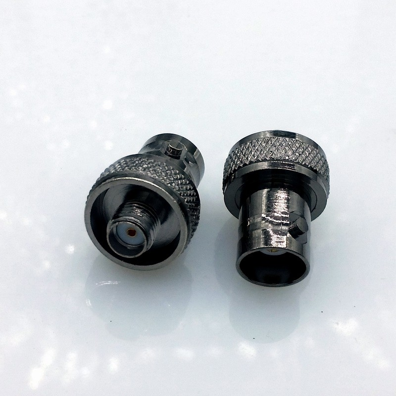 black BNC to sma connector adapter SMA to BNC,SMA-F to BNC-F antenna adapter for baofeng radio UV-5R UV-5RA UV-5RB UV-5RC UV-5RD oem 10 144 430 na 519 sma walkie talkie baofeng 5r px 888k tg uv2 uvd1p na 519 page 1