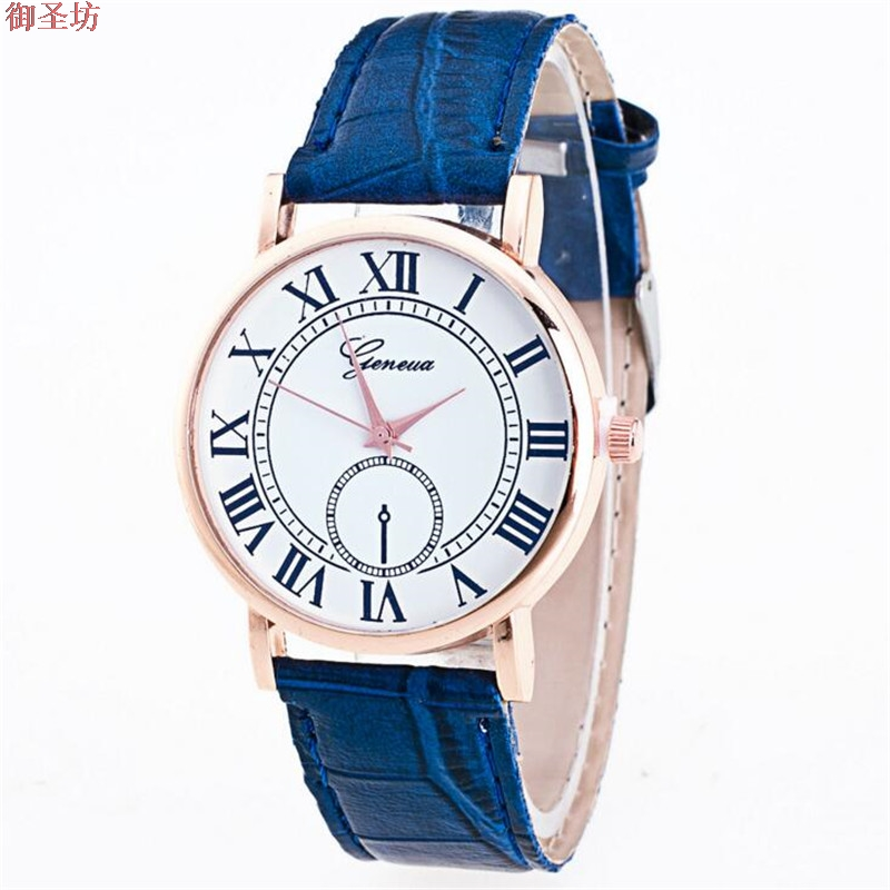 Geneva Roman Scale Leather Strap Ladies Sport Quartz Watch Relojes Mujer 2017 Women Watches Horloges Vrouwen Bayan Saat Uhr B308 relojes mujer 2017 fashion women casual geneva roman leather band analog quartz wrist watch hot sale bayan saat relogio feminino