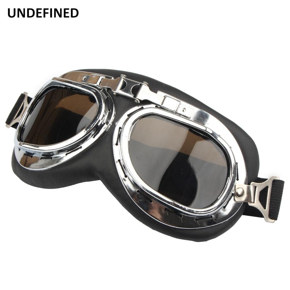 Vintage Motorcycle Goggles Glasses Foldable Pilot Aviator Motorbike Motocross Glasses for Harley ATV Dirt Bike Helmet Goggles