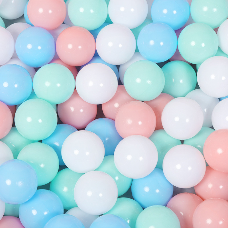 100pcs/lot Eco-Friendly Macaron color Plastic Water Pool Ocean Wave Ball Baby kids Funny ball Toys Ball Outdoor Fun Sports