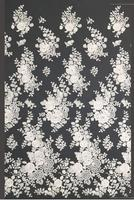 Bling Sequins beaded Polyester & Embroidered lace with Ivory African lace for wedding dress fabric