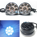 Super Bright DRL 2pcs x 9 LED Car head Front Round Fog Tail light Off-road Lamps parking Lamp Daytime Running Lights Car Styling