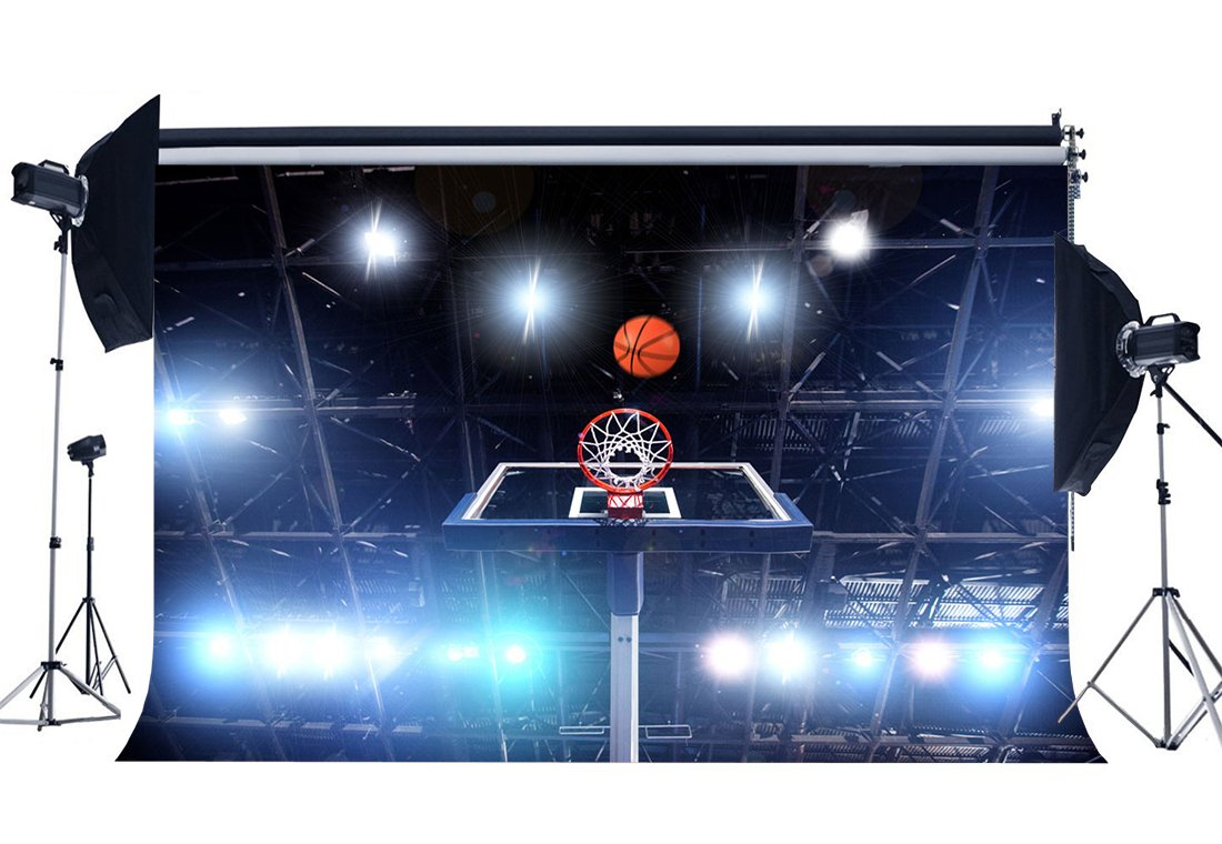 Basketball Court Backdrop Stadium Shining Stage Lights Sports Match Bokeh Photography Background for Boys-in Photo Studio Accessories from Consumer Electronics