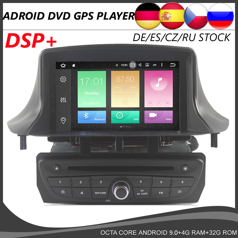 Octa Core Android 9.0 Car DVD <font><b>GPS</b></font> player For Renault <font><b>Megane</b></font> <font><b>3</b></font> Fluence 2009-2015 DSP navigation Multimedia Stereo Radio BT CANBUS image
