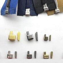 Meetee 10pcs 3# 5# Nylon Resin Zipper Single Open Slider Socket Repair Accessory Insert Box Pin Retainer Replacement Kit