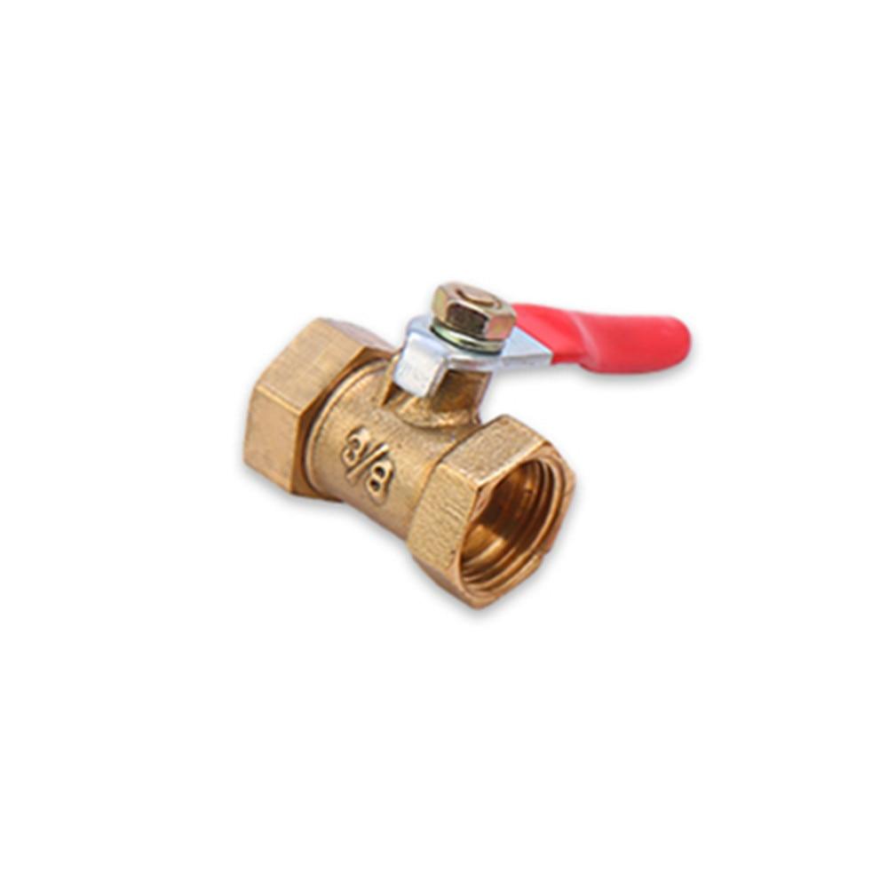 Sanitär Stetig Messing Kugel Ventil 1/4 3/8 1/2 innengewinde Ball Ventil Messing Verbinder Gemeinsamen Kupfer Rohr Fitting Koppler Adapter