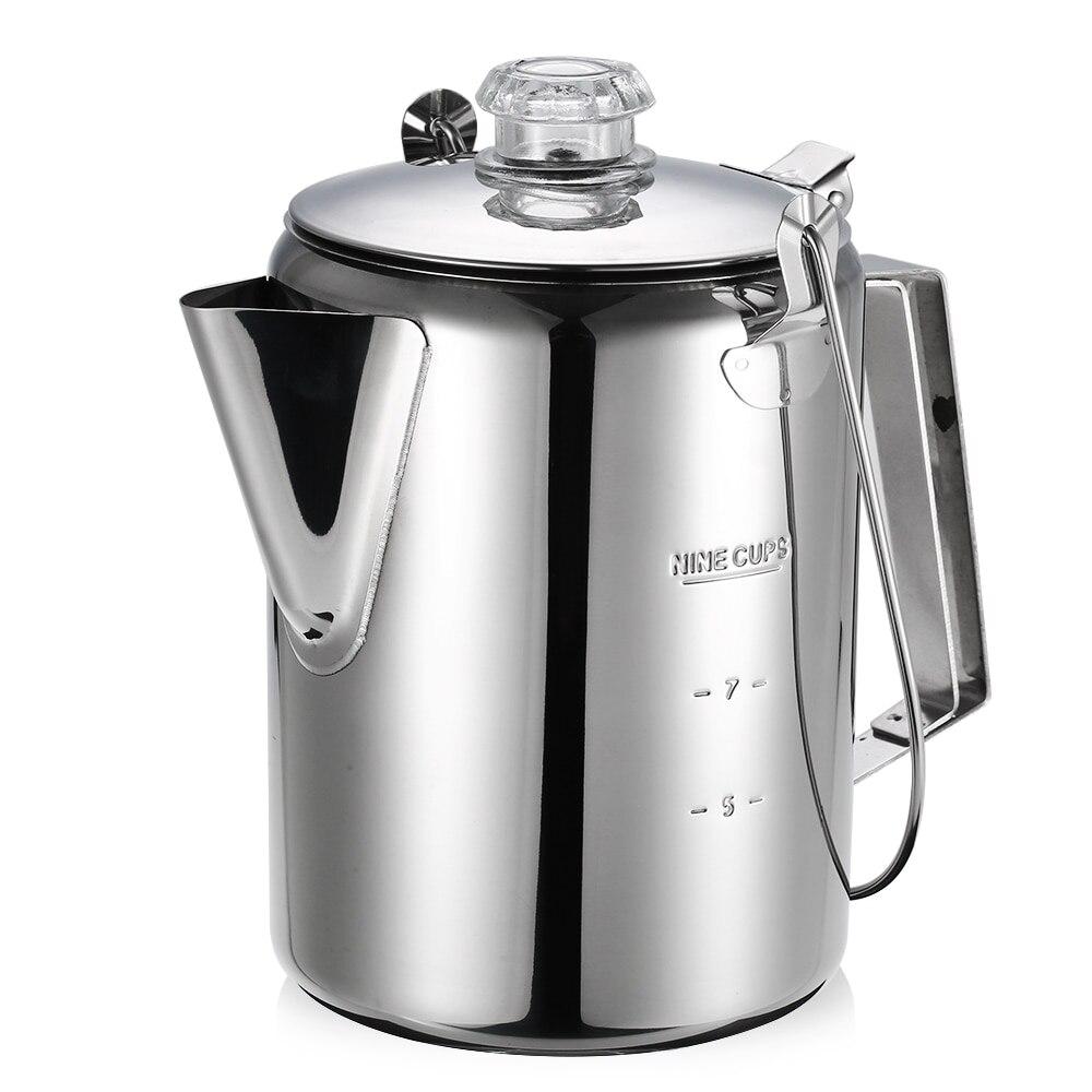 Nouveau extérieur 9 tasse en acier inoxydable lait tasse à café en plein air Camping pêche randonnée Portable sac à dos casseroles de cuisine