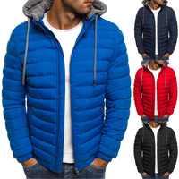 Zogaa, зимняя мужская куртка, пальто с капюшоном, повседневные мужские куртки на молнии, парка, теплая одежда для мужчин, уличная одежда для муж...