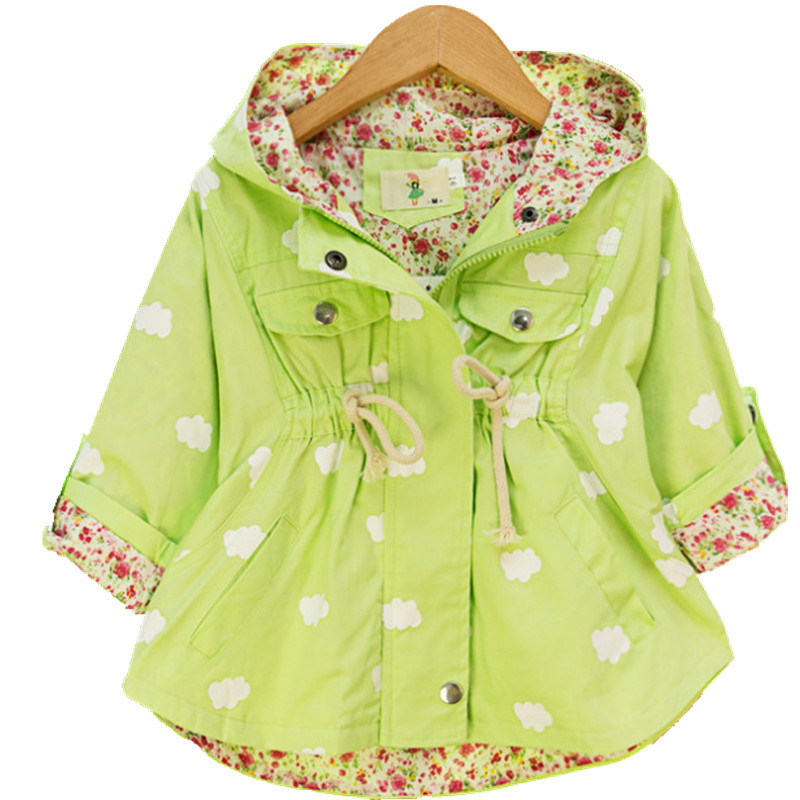 Fashion jackets for girls Cute casual girls hoodies kids Jacket 2-5 age children outwear Spring Autumn casacos infantil