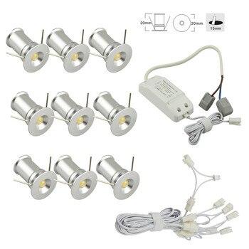 Einbau Mini Led-strahler Unter-schrank Lichter Dimmbar mit 9 Spot Lampen Kits für Schrank Küche Schrank Wein Bar beleuchtung