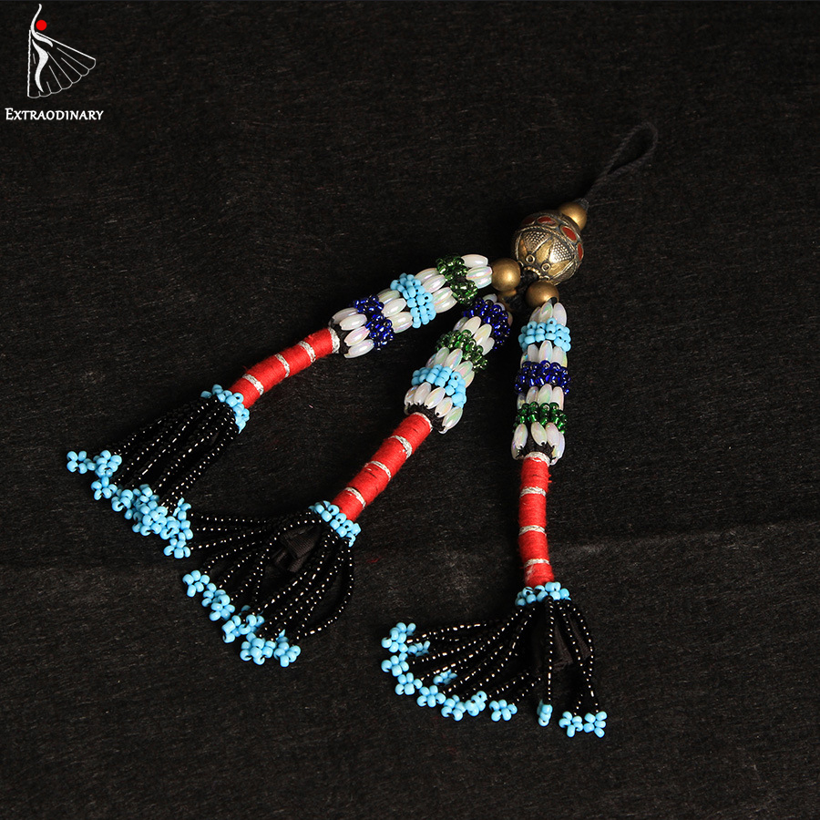 Image 3 - Belly Dance Headgear Tags Hanging Beads Tassel Tribal Accessory Hand Made Headwear Gypsy Women Stage Performance JewelryBelly Dancing   -