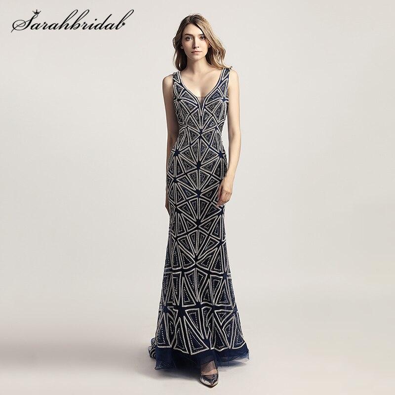 be190e2a12 Najnowsze luksusowe style elegancki formalne długa syrenka suknie  wieczorowe prawdziwe zdjęcia kryształowe sukienki na przyjęcie Robe