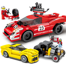 Toys For Children Racing Car Diy Assembled Model Kit Compatible Legoing Educational Building Blocks Brick Boys Girls Gifts I43