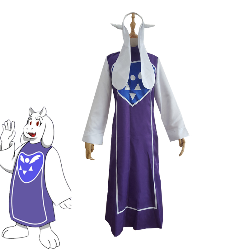Game Undertale Toriel Cosplay Costume Halloween Carnival Uniforms Full Set Custom Made