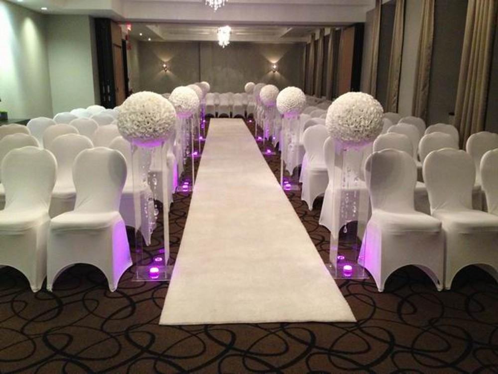 16  40 cm Big Size Milk White Fashion Artificial Rose Silk Flower Kissing Balls For Wedding