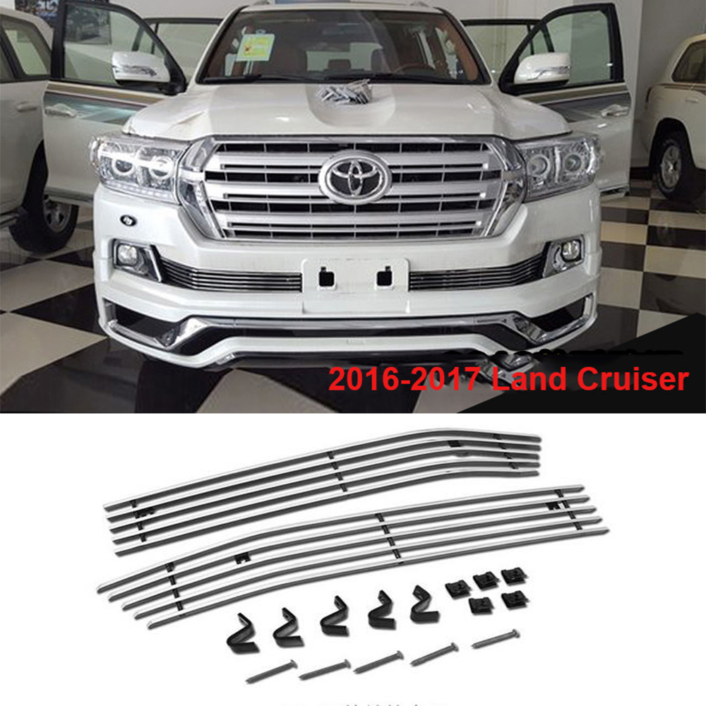 Aliexpress com buy 2016 2017 stainless steel front grille for toyota land cruiser 200 fj200 accessories from reliable toyota grille suppliers on bifrost