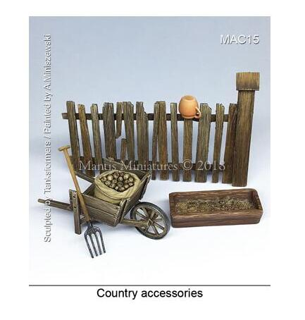 <font><b>1/35</b></font> Country <font><b>accessories</b></font> AND Fence <font><b>Resin</b></font> Model Miniature figure Unassembly Unpainted image
