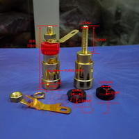 Pure Copper Plating Small Spring Terminal Speaker Amplifiers Press Type Terminal Self Locking Terminal One