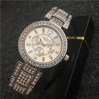 CONTENA Silver Watch Women Watches Men Luxury Brand Binger Orologi Militar Curren Montres Homme Grande Marque