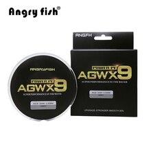 Angryfish м 300 м 9 нитей супер PE плетеная леска сильная прочность леска