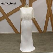 HWTX_Bridal Luxury Pearls Prom Dress Floor Length