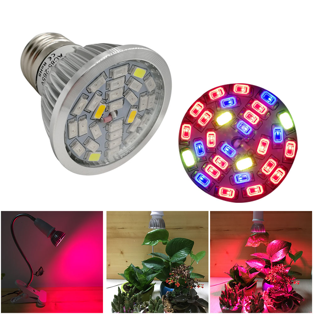 10pcs Full Spectrum Led Grow Light E27 30W Led Growing Lamp for Flower Plant Hydroponics System