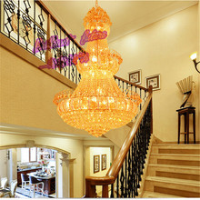 Chandelier Lamp LED Villa Compound Floor Of Chandeliers, Luxury Hotel Market Hall pendant Decorative lamp k9 Crystal lights