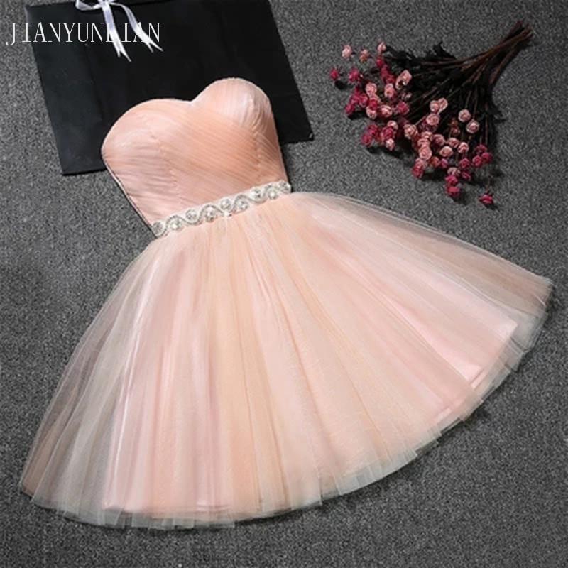Réel échantillon pas cher Mini robe de soirée Sexy rose court serré retour robes 2019 courte Grade robes de bal Vestido de Festa Curto
