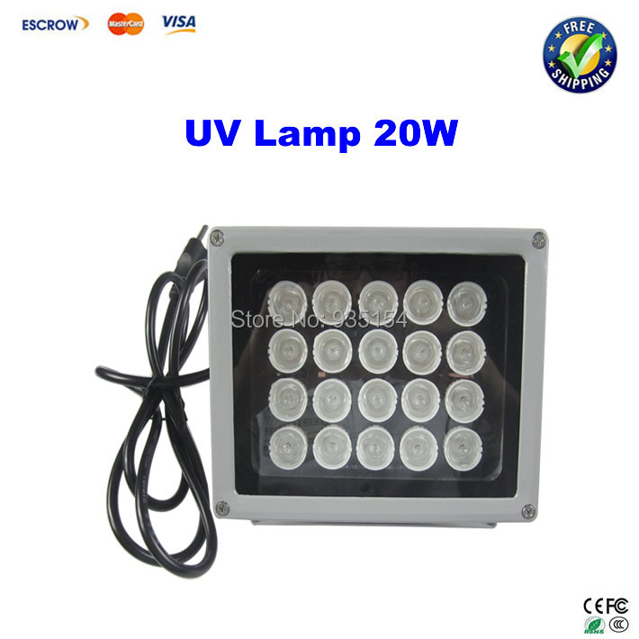 20W UV Glue Dryer  UV lamp for Mobile LCD Refurbishment  UV Shadowless Lamp With 20pcs LED Bulbs 946d screen separator with accessories uv glue uv lamp moulds etc glue remove machine