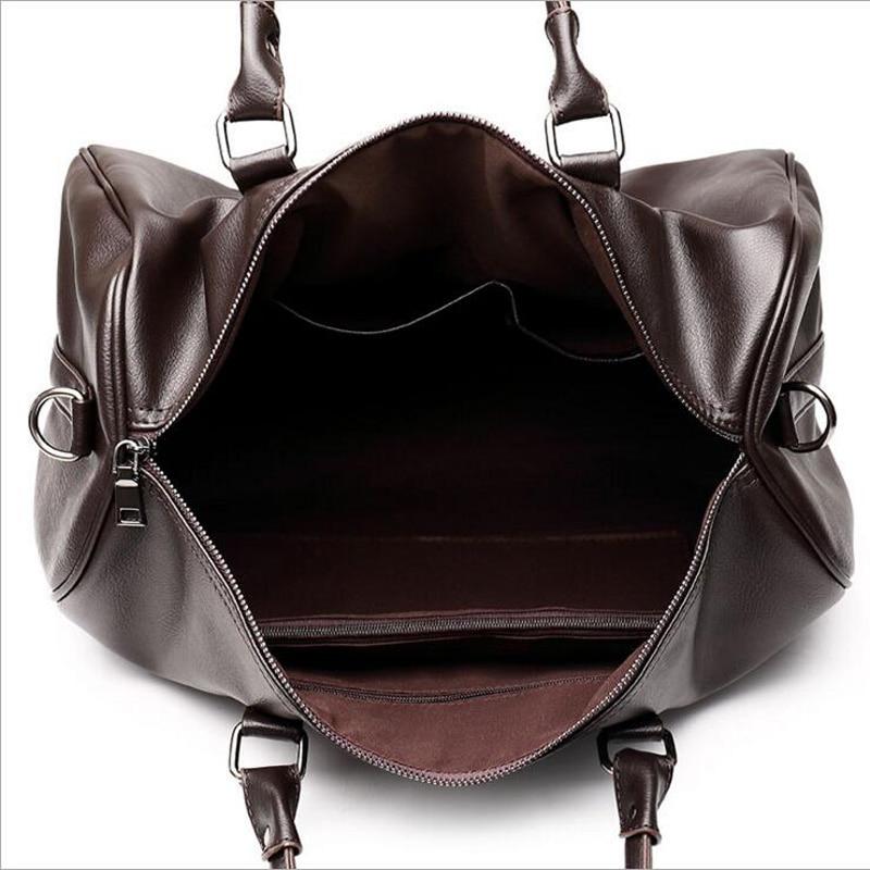Ringad pingvin mode läder mäns rese väska bagage väska manar bär - Väskor för bagage och resor - Foto 5