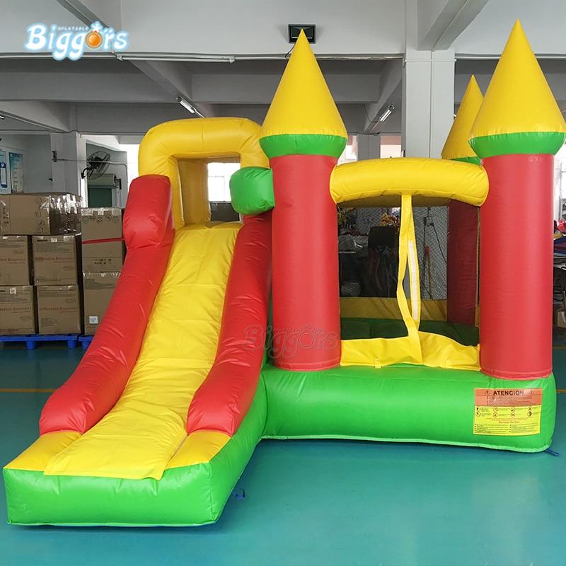 Maison gonflable combinée de rebond de château plein d'entrain gonflable de PVC de la cour 0.55mm avec la glissière - 3