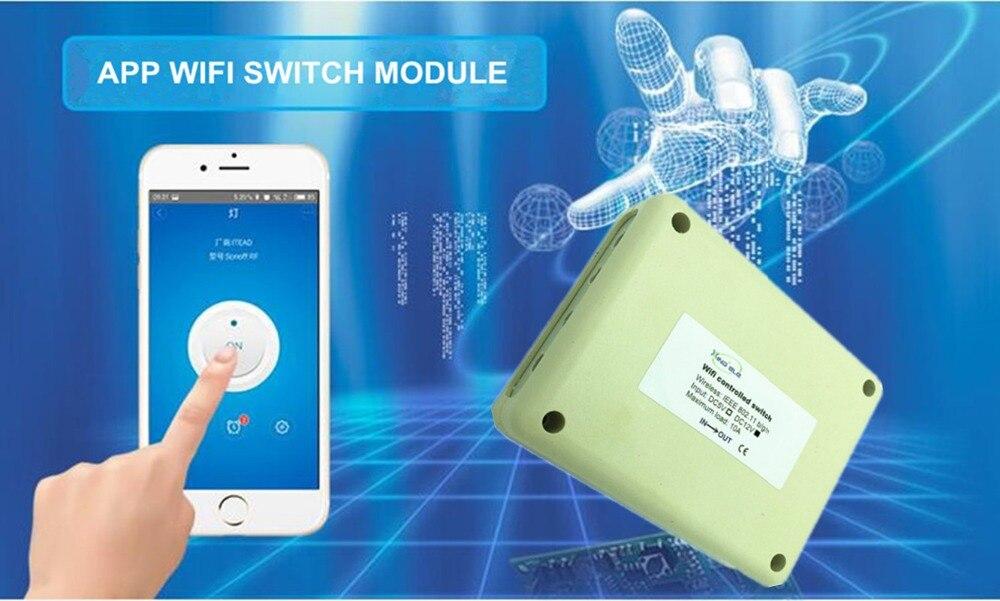 4CH 12V Smart Wireless WiFi Light Switch wi-fi Module Contros