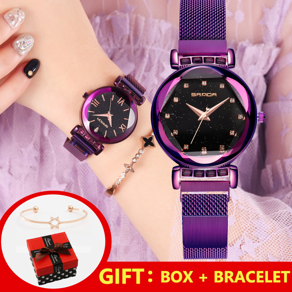 2019 Luxury Roman Women Watches Rose Gold Bracelet Crystal Quartz Ladies Watch Dress Diamand Female Wristwatch relogio feminino