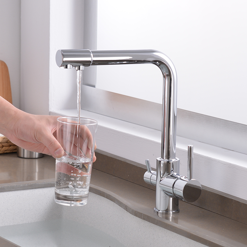 filtered water kitchen faucet 360 Degree Rotation  Bend&Double right angle&Right angle brass Faucet Kitchen sink tapfiltered water kitchen faucet 360 Degree Rotation  Bend&Double right angle&Right angle brass Faucet Kitchen sink tap