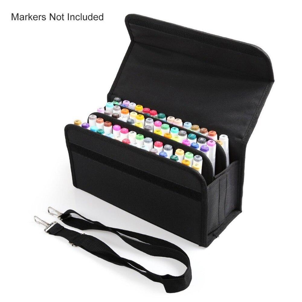 Calidad premium Oxford 80 ranuras escuela caja del marcador marcadores bolsa titular rotulador pintura regalo para niños estudiante cualquier artista