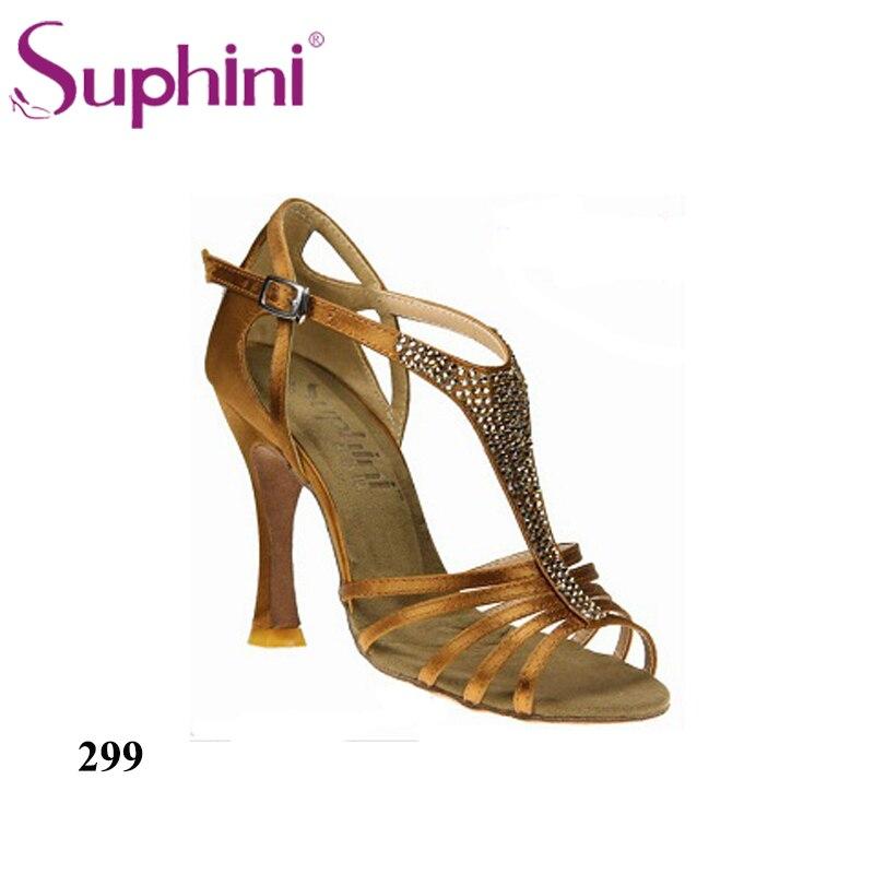 Free Shipping Woman Shoes Salsa 10 cm Heel Nude Salsa Dance Shoes
