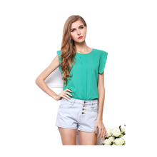 2016 summer new women's large size chiffon t-shirt maternity Pregnant women solid color short-sleeved blouse