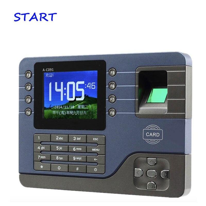 A-C091 TCP/IP Biometric Fingerprint Time Clock Recorder Attendance Employee Electronic English Punch Reader Machine