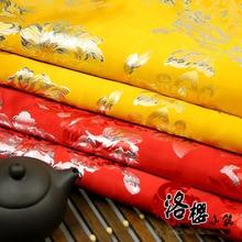 Woven damask gold jacquard cloth costume hanfu formal dress kimono advanced cos clothes fabric peony пуловер liu jo 8 марта женщинам