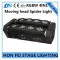 Лучшая цена! 8X10 Вт паук свет RGBW 4in1 moving головной луч света dmx512 дискотека лампы профессиональной сцене DJ оборудование CE.