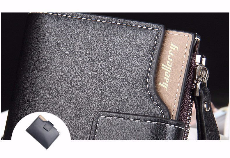 Topdudes.com - High Quality Short Zipper Portfolio Wallet