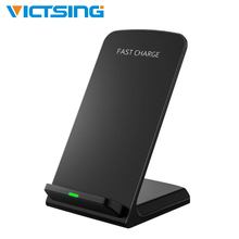 10W Qi Wireless Charger Phone Charge Holder Stand for iPhone Universal Charging Base Quick 2.0 Fast