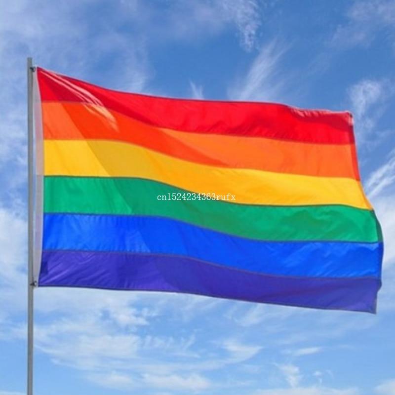 50PCS Rainbow Flag Gay Pride Peace Flags LESBIAN PRIDE PEACE Pennants Gay Flags For Gay Right
