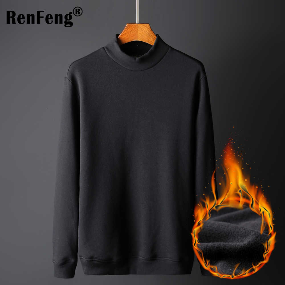 ca830382782 ... Men's Thermal Underwear Long Sleeve Top Winter Thermal Undershirt Thick  Pullover turtleneck Shirts for men man ...