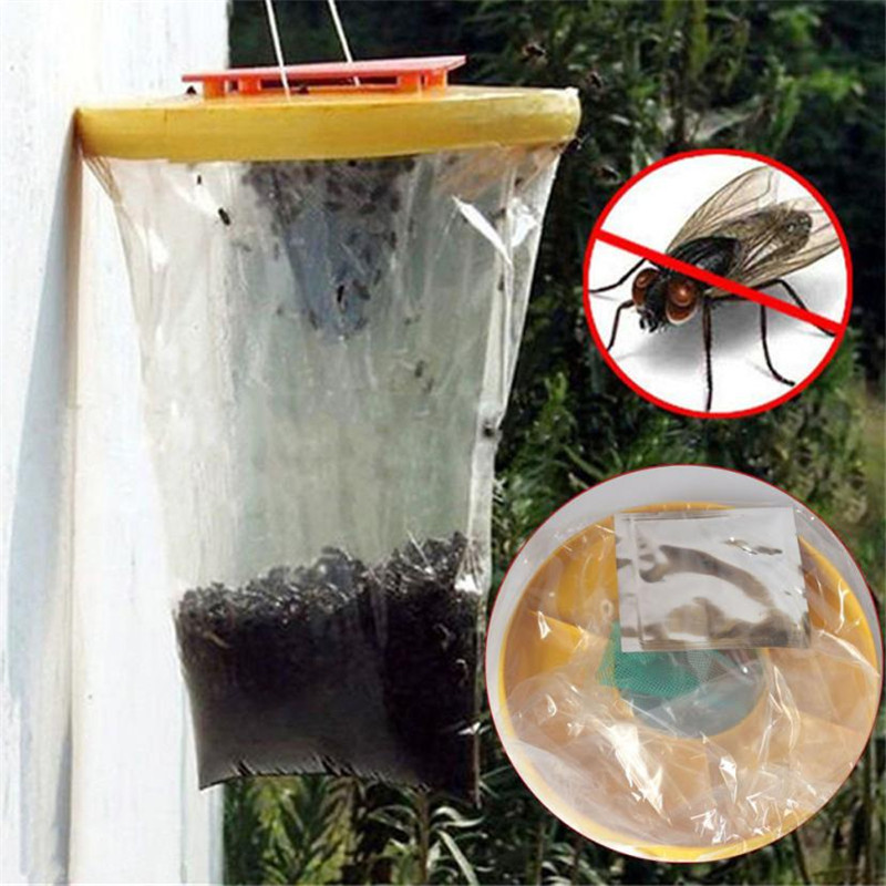 Red Drosophila Fly Trap Top Catcher The Ultimate Fly Catcher Garden Home indoor/outdoor Insect Bug Killer drop shipping