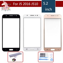 10pcs/lot For Samsung Galaxy J5 2016 J510 J510F J510FN J510M J510H SM-J510F Touch Screen Front Panel Glass Lens Outer LCD смартфон samsung galaxy j5 2016 sm j510fn white