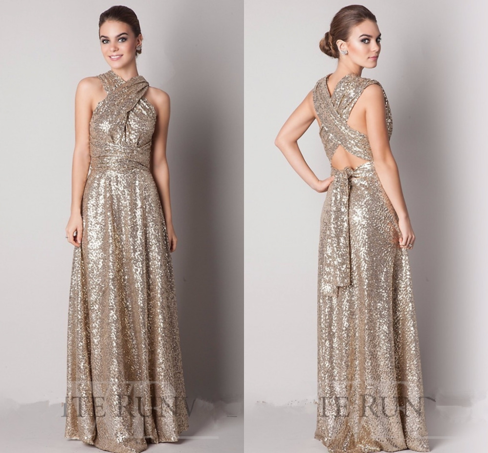 Rose gold champagne sequin bridesmaid dresses 2016 new high neck rose gold champagne sequin bridesmaid dresses 2016 new high neck corset bling sequined long maid of honor wedding guests dress in bridesmaid dresses from ombrellifo Choice Image